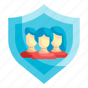 protect, shield, guard, security, teamwork