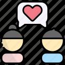 love, talk, friendship, romance, chat, people, conversation