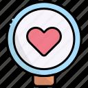 find, search, zoom, love, heart, romance, friendship