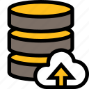 network, server, connection, database, upload, cloud, storage icon