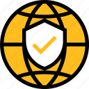 network, server, connection, internet protection, protection, shield, global icon