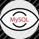 coding, developer, development, eye, mysql, web icon
