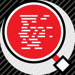 code, coding, developer, development, find, web icon