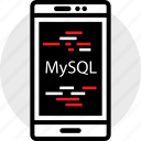 coding, developer, development, mysql, phone, web icon