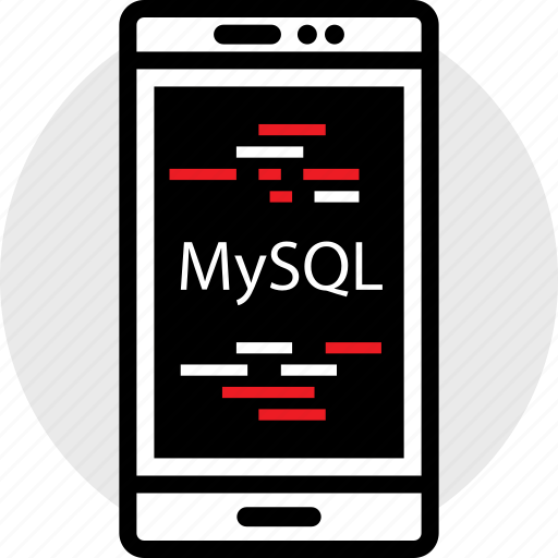 coding, developer, development, mysql, phone, web icon