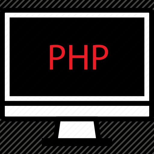 coding, development, mac, pc, php, screen, web icon