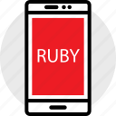 coding, developer, development, phone, ruby, web icon