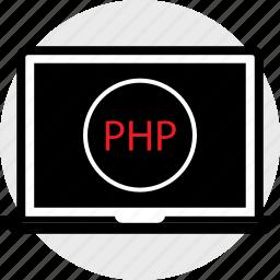 code, coding, developer, development, php, web icon