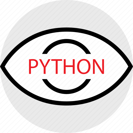 coding, developer, development, eye, python, web icon