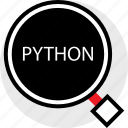coding, developer, development, find, python, web icon