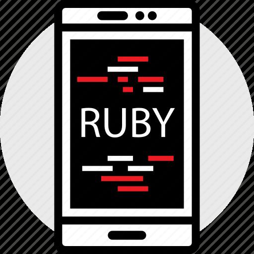 cell, coding, developer, development, ruby, web icon