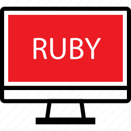 coding, developer, development, ruby, web icon