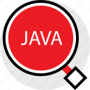 coding, developer, development, find, java, web icon