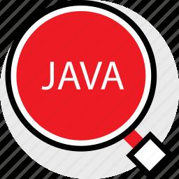 coding, developer, development, find, java, web icon