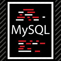 coding, developer, development, lines, mysql, web icon