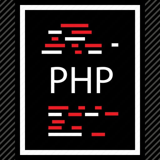 coding, developer, development, lines, php, web icon