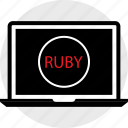 coding, developer, development, laptop, ruby, web icon