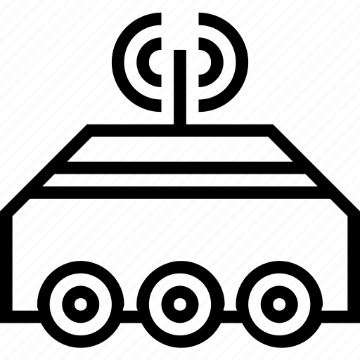 space, transport, vehicle icon
