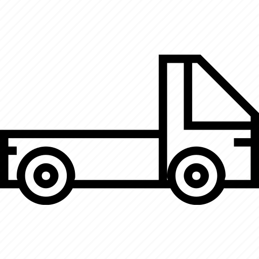 pickup, transport, vehicle icon