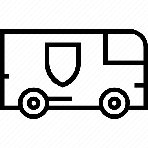 security, transport, van, vehicle icon