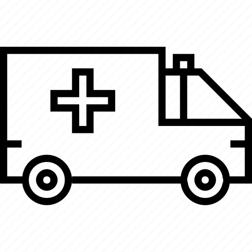 ambulance, transport, van, vehicle icon