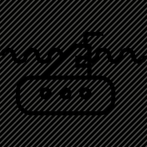 marine, sub, submarine, transport, vehicle icon