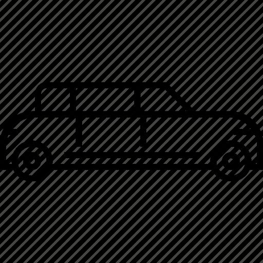 limo, limosine, transport, vehicle icon