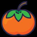 persimmon, healthy, organic, food, fruit icon