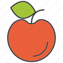 apple, cherry, fruit, peach icon