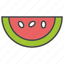 fruit, watermelon icon