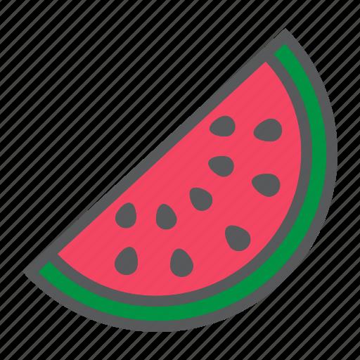 diet, food, fresh, fruit, healthy, vegetarian, watermelon icon