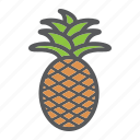 ananas, diet, food, fruit, healthy, pineapple, vegetarian icon