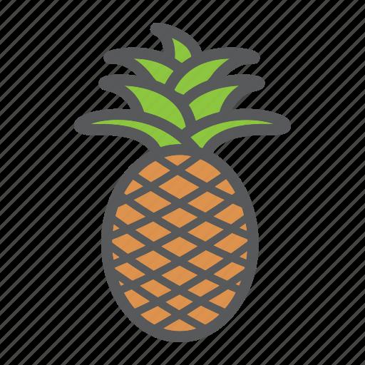 ananas, diet, food, fruit, healthy, pineapple, vegetarian icon