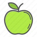 apple, diet, food, fresh, fruit, healthy, vegetarian icon