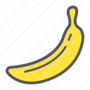 banana, diet, food, fresh, fruit, healthy, vegetarian icon