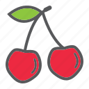 cherry, diet, food, fresh, fruit, healthy, vegetarian icon