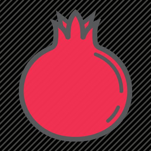 diet, food, fruit, garnet, healthy, pomegranate, vegetarian icon