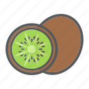 diet, food, fruit, healthy, kiwi, tropical, vegetarian icon