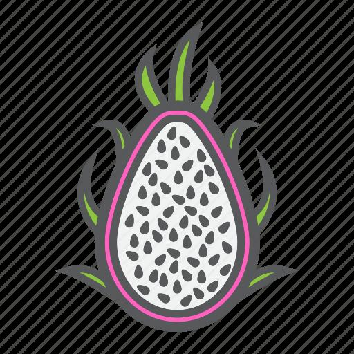 diet, dragon, food, fruit, pitaya, tropical, vegetarian icon