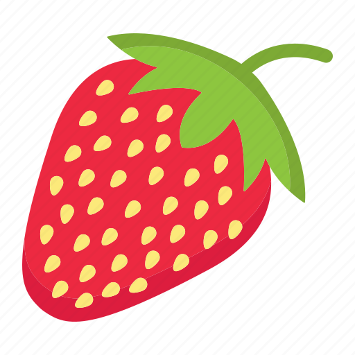 diet, food, fresh, fruit, healthy, strawberry, vegetarian icon