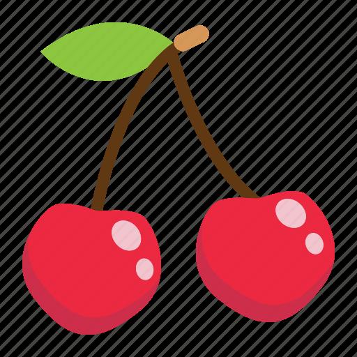 cherry, diet, food, fresh, fruit, healthy, vegetarian icon