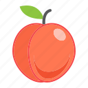 diet, food, fresh, fruit, healthy, peach, vegetarian icon