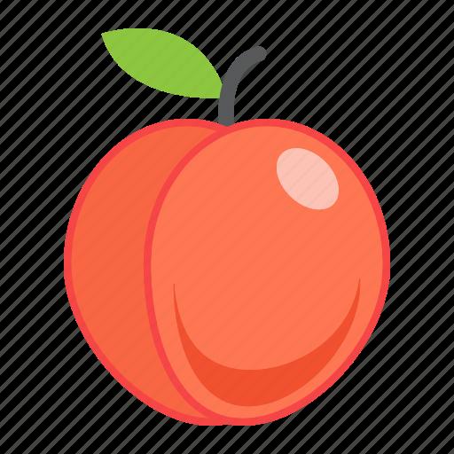 diet, food, fresh, fruit, healthy, peach, vegetarian icon