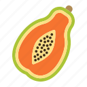 diet, food, fruit, healthy, papaya, tropical, vegetarian icon