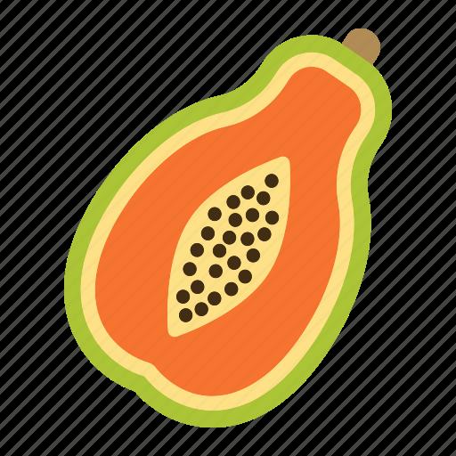 diet, food, fruit, healthy, papaya, tropical, vegetarian icon