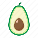 avocado, diet, food, fruit, healthy, tropical, vegetarian icon