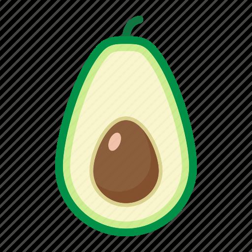 avocado, diet, food, fruit, healthy, tropical, vegetarian icon