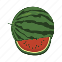 food, fruit, health, melon, sweet, watermelon icon