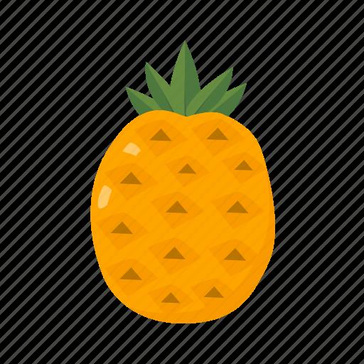food, fruit, health, juice, pineapple, sweet, tropical icon