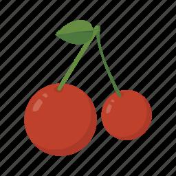 berries, cherry, food, fruit, health, sweet icon